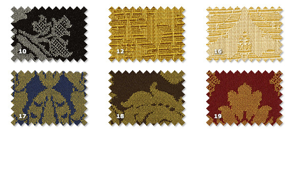DFA - Falstaff Damask10. black12. gold16. beige17. blue18. brown19. dark red