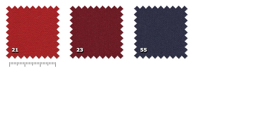 HSW - Satin Twixy21. rosso23. bordeaux55. blu scuro
