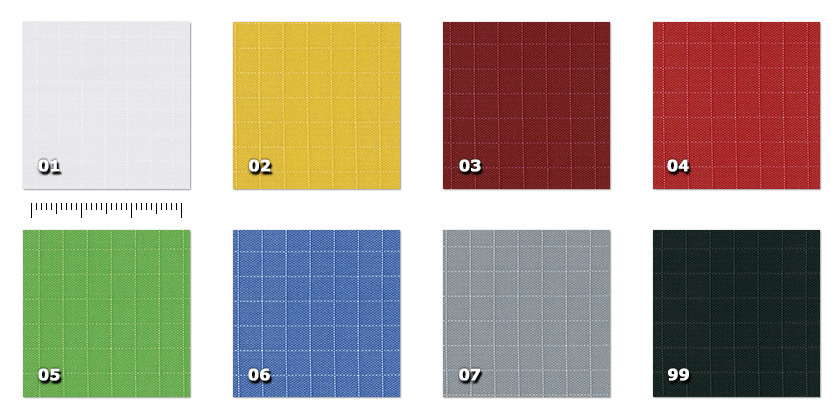 ASP - Spi width 160 cm01. white02. yellow03. bordeaux04. red05. green06. blue07. grey99. black