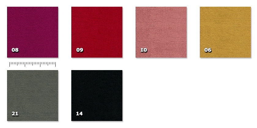 FBR - Bruxelles06. gold08. bordeaux09. red10. ancient pink14. black21. dark grey