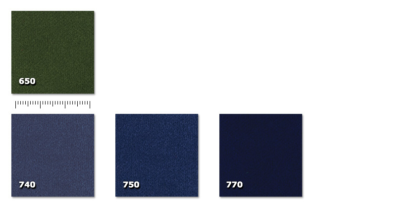 FMB - Macbeth 400650. verde740. denim*750. blu770. blu scuro** ordine minimo ± 300 m