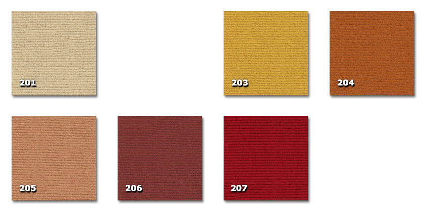 FTE - Teatro201. beige203. or204. orange205. rose206. rose ancien207. rouge