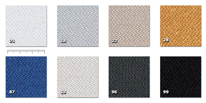 JTH - Tonal 43501. white13. silver18. grey22. beige28. ochre87. blue96. dark grey99. black