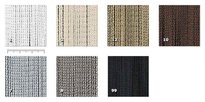 NTR - Tripolina1. bianco2. beige7. light grey8. dark grey10. brown12. dove grey99. black