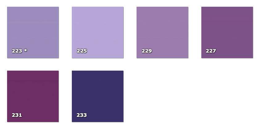 QLA130P - Laccato width 130 cm223. lilac * (60 m)225. lilac227. light violet229. lilac231. violet233. violet* availability limited to the indicated quantity