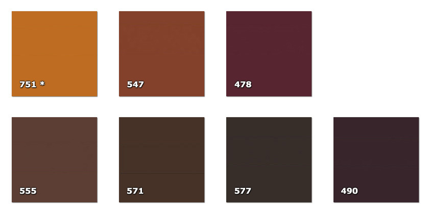 QLA130P - Laccato width 130 cm478. brown490. dark brown* (90 m)547. light brown555. brown571. dark brown577. dark brown604. light grey751. brick * (118 m)* availability limited to the indicated quantity