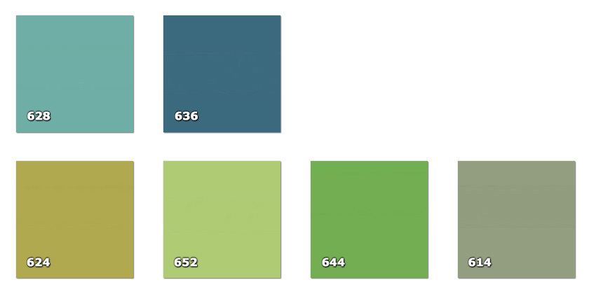 QLA130P - Laccato width 130 cm614. grey-green624. yellow-green628. light savanna636. green/light blue644. light green652. bright green
