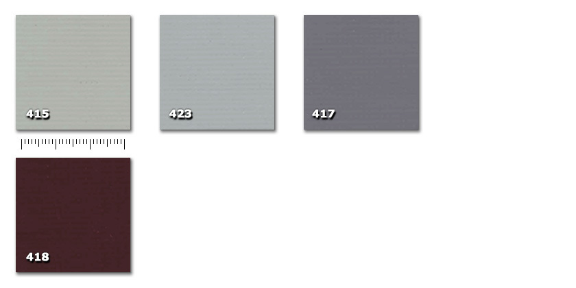 QPE - Heavy PVC415. light grey423. gray417. dark grey418. brown