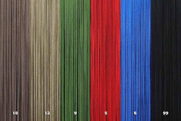 NTR - Tripolina10. brown12. dove grey9. green5. red6. blue99. black