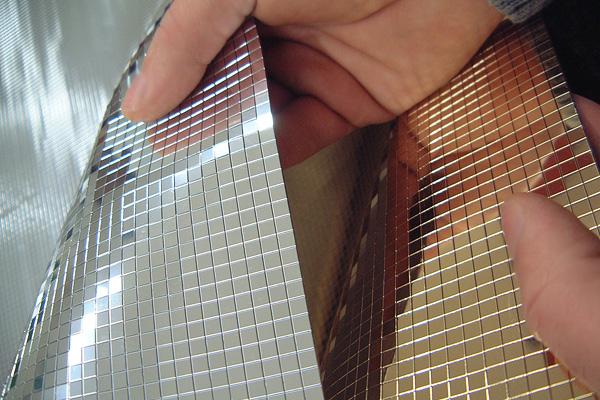 Qms mosaico espejo materiales espejo peroni - Espejos color plata ...