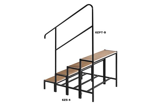6zs escaliers l ments accessories pour podiums peroni - Petit escalier 4 marches ...