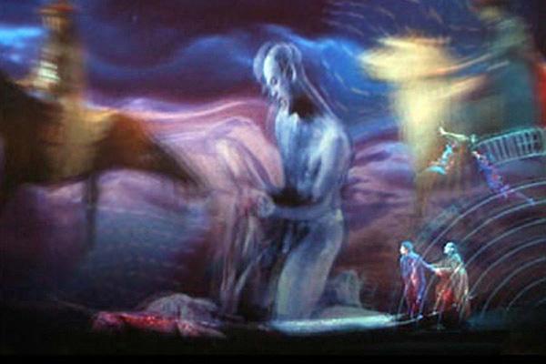 Le chevauchée final de Faust et Méphistophélès, après que Faust a ...