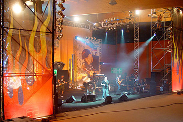 Digital Backdrops For Stage Stage With Backdrops Made